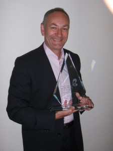 Andy with award